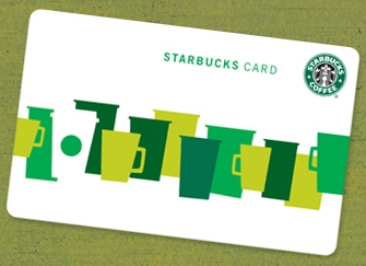 Free Starbucks Gift Card Post-it