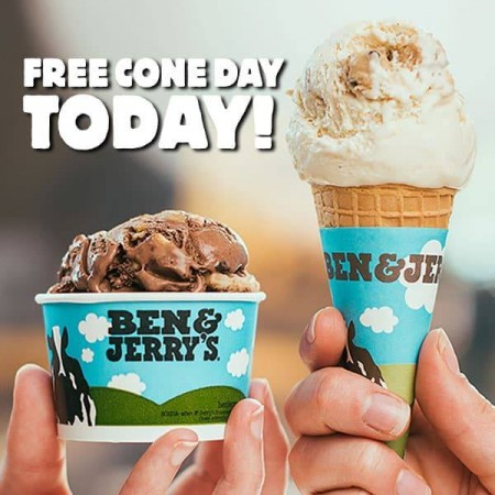 ben and jerry cone day