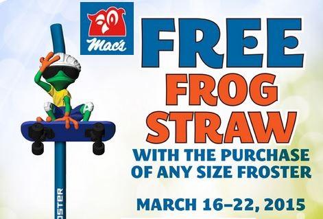 frog straw at macs