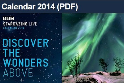 Stargazing calendar