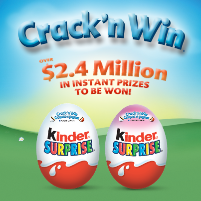 kinder crack and win