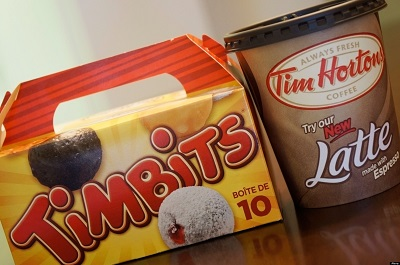 Tim Hortons Timbits and Coffee Cup