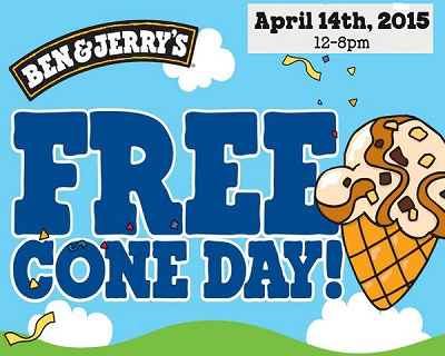 ben & Jerrys cone day