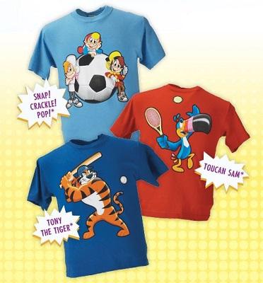 kelloggs kids tshirts