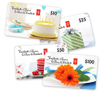 presidents choice gift cards
