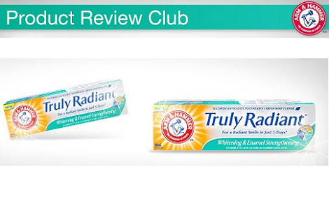 Free Arm Amp Hammer Truly Radiant Toothpaste Free Stuff