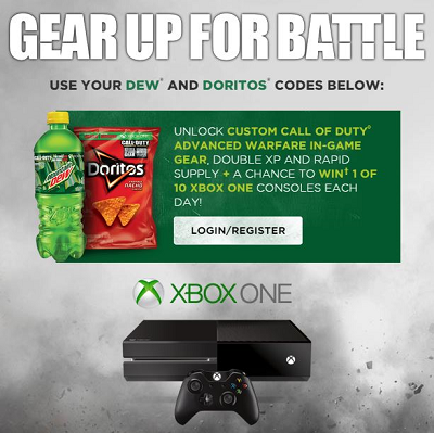 Dew and doritos prizes for baby