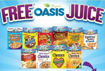 free oasis juice