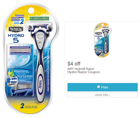 coupon-schick-hydro-razors