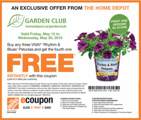 Discount coupons for home depot canada