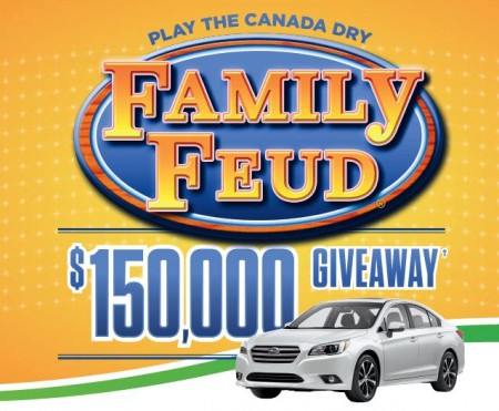 canada dry family feud giveaway
