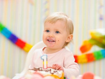 babys first b day cake