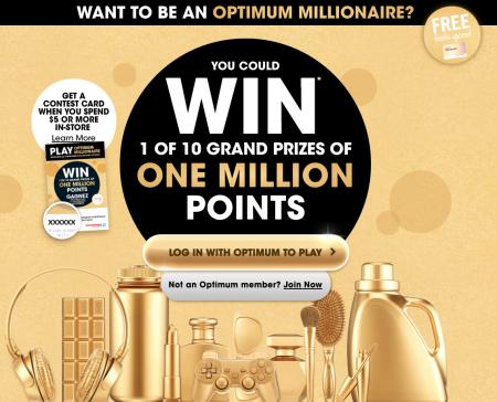 shoppers drug mart million point contest