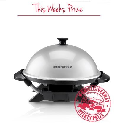 george foreman grill giveaway