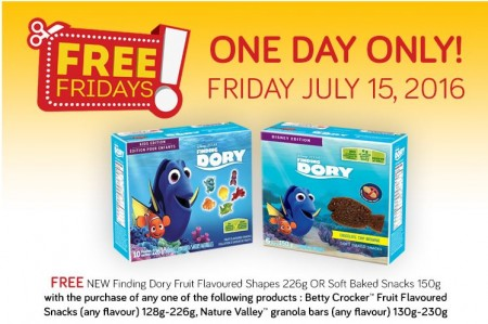 finding dory snacks coupon