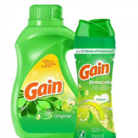 Discount coupons for gain detergent