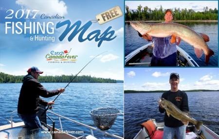 Free northwest ontario fishing hunting map free stuff for Free fishing stuff