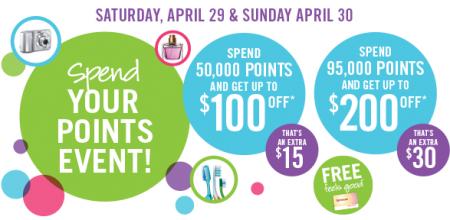 shopper spend points event