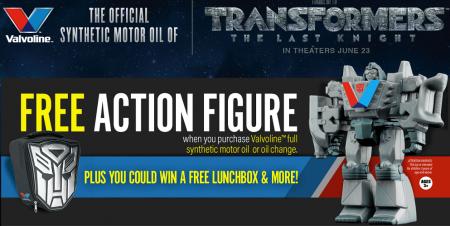 valvoline transformers contest