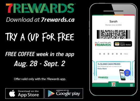 7 eleven free coffee