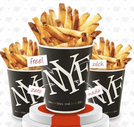 new york fries freebie