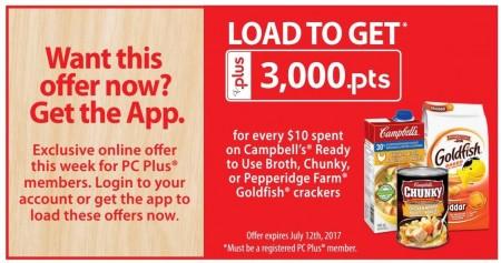 pc plus goldfish campbells offer