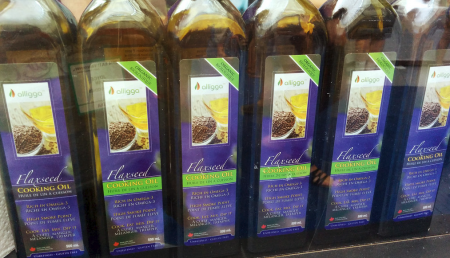 organic flaxseed cooking oil