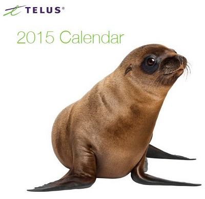 FREE Telus 2015 Calendar...